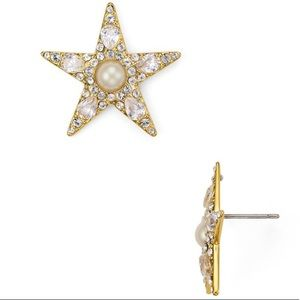 NWT Kate Spade Gold Star Statement Stud Earrings